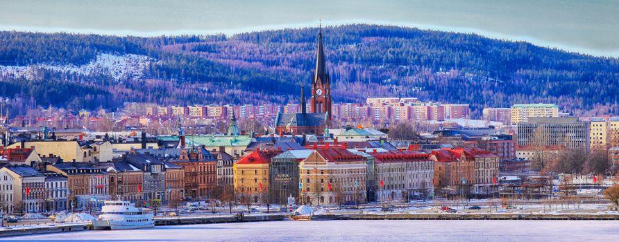Бесплатные фото Сундсвалль,Sundsvall,город,Швеция,панорама