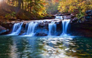 Фото бесплатно поток, 4 ручья, осень