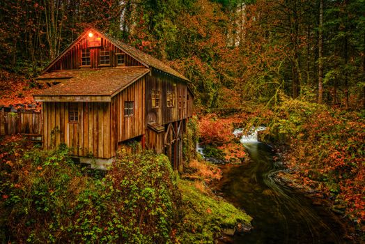 Photo free Cedar Creek Grist Mill, Washington, water mill