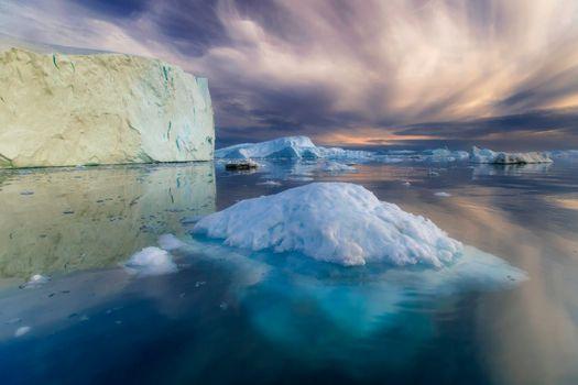 Фото бесплатно Гренландия, Айсберги, Арктический