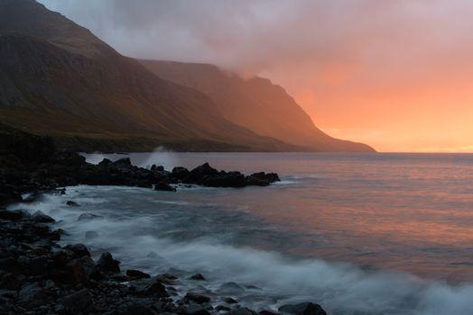 Photo free fog, sea, shore