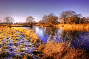 Фото бесплатно пруд, солнце, вода
