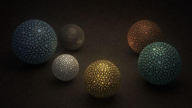Photo free stone balls, texture, modeling