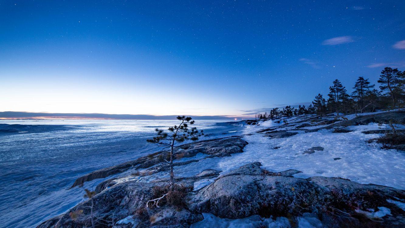 Фото бесплатно Якобстад, сумерки, зима - на рабочий стол