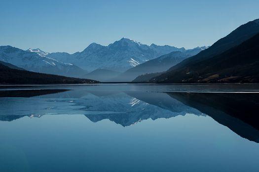 Photo free Lake, space, winter