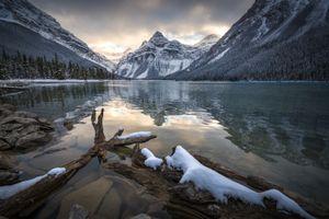 Фото бесплатно озеро Мистая, Национальный парк Банф, Альберта