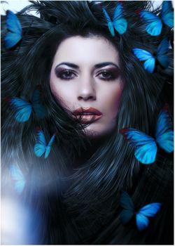 Леди Бабочка · бесплатное фото