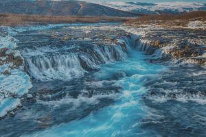 Фото бесплатно Водопад Brahos, Исландия, Bracosaur