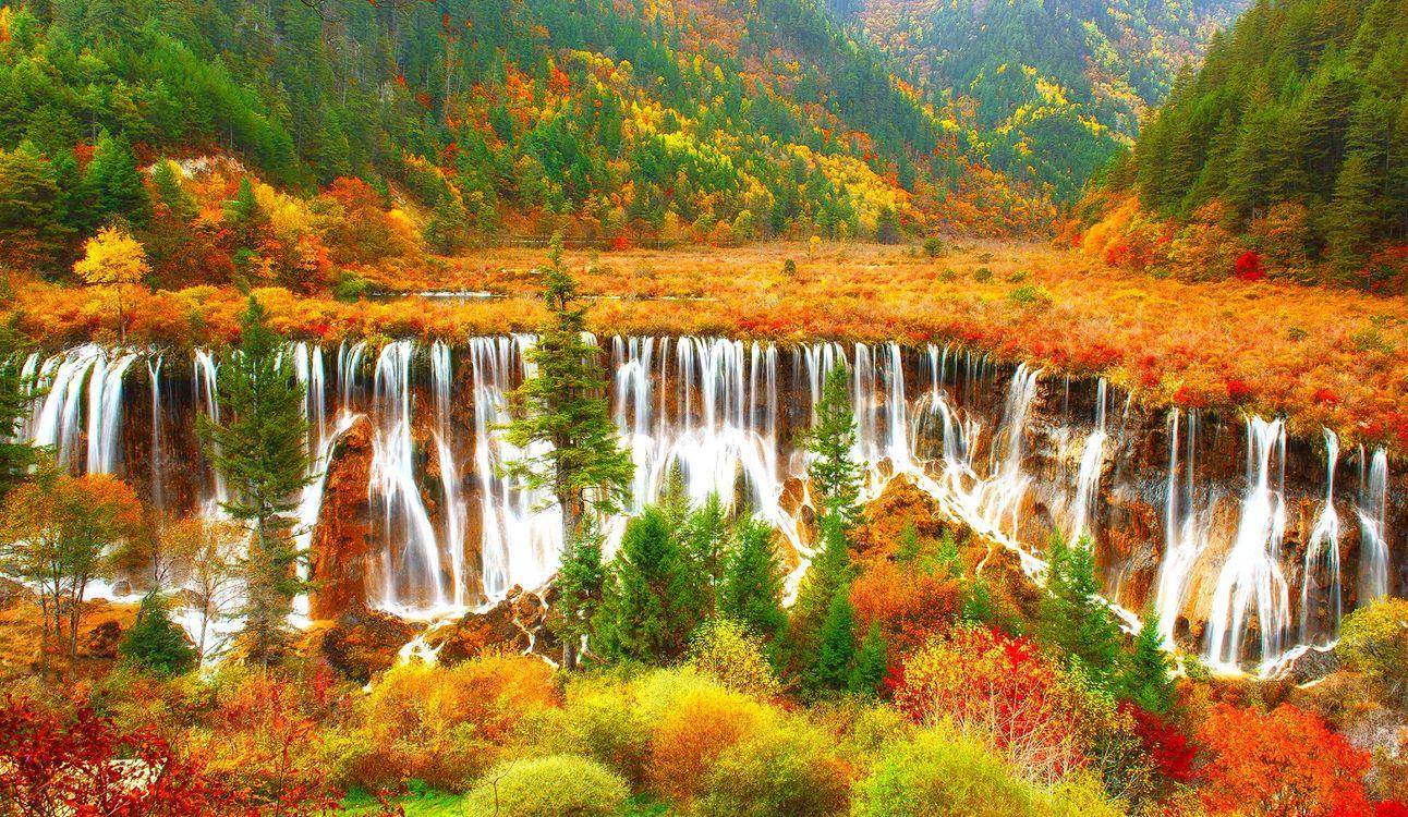 Фото бесплатно осень, красиво, каскады - на рабочий стол