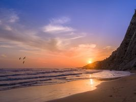 Photo free sea, sunset, beach