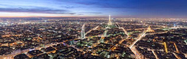 Фото бесплатно Франция, Эйфелева башня, панорама