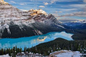 Фото бесплатно Пейто, зима, горы