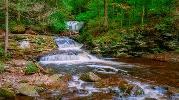 Водопад - пейзаж · бесплатное фото