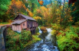 Photo free Cedar Creek Grist Mill, Washington, USA