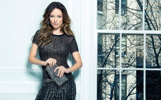 Photo free Olivia Wilde, apartment, by the white wall