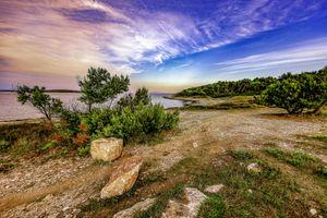 Бесплатные фото Премантура,Хорватия,море,берег,пляж,камни,деревья