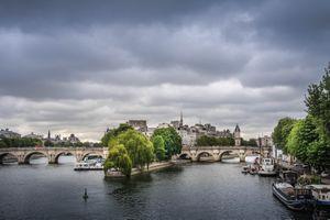 Фото бесплатно река Сена, Париж, городской пейзаж
