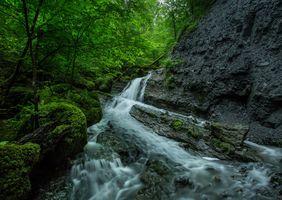 Бесплатные фото речка,водопад,скалы,лес деревья,природа,пейзаж