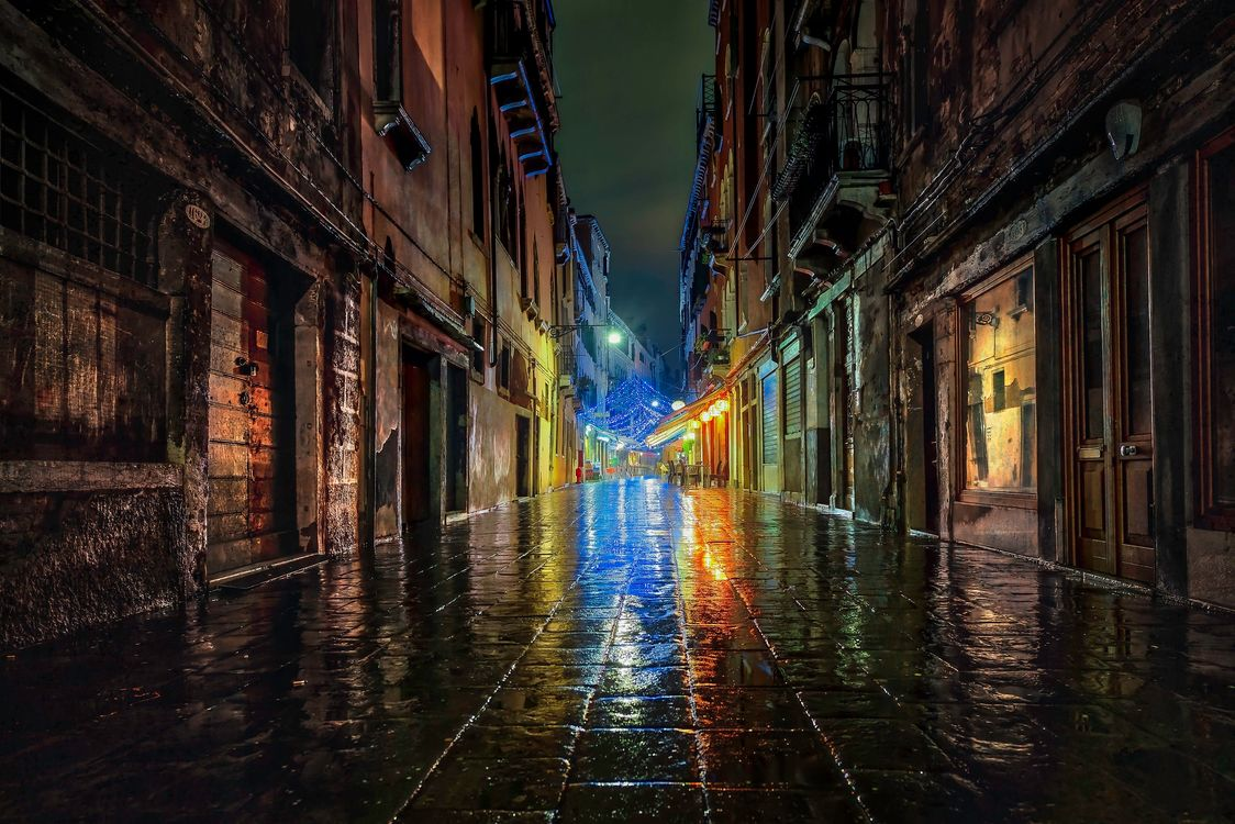 Photos for free Venice, Italy, rain - to the desktop