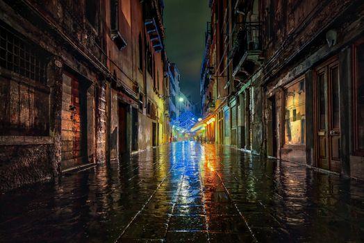 Photo free Venice, Italy, rain