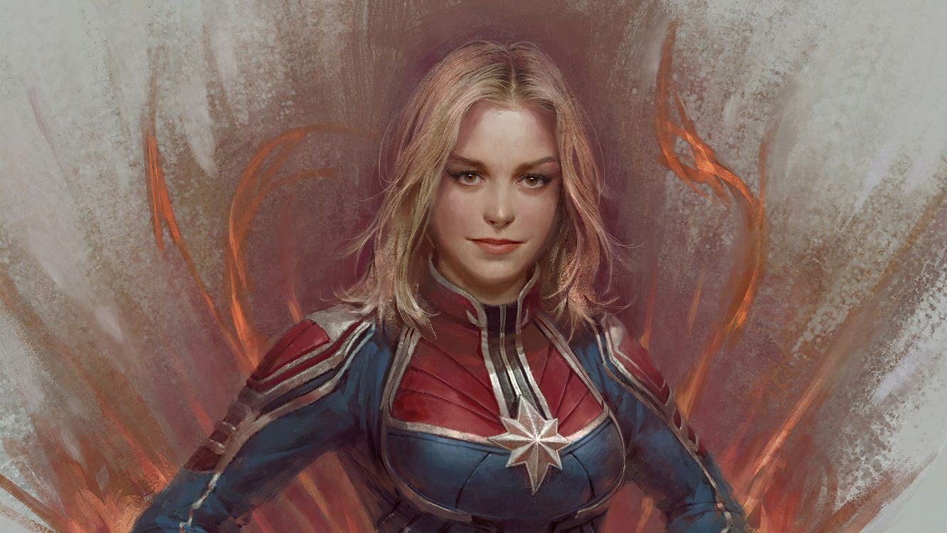 Photos for free Captain Marvel, artwork, Artstation - to the desktop