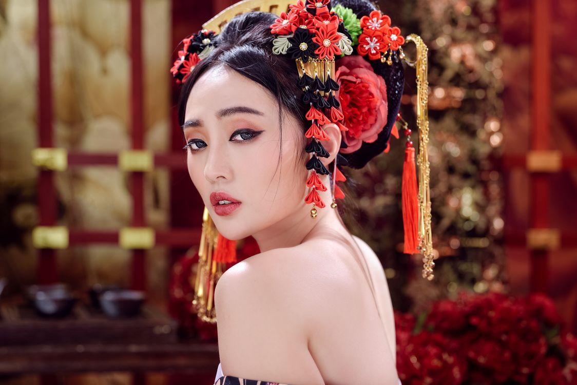 Фото бесплатно девушка, красивый макияж, азиатские модели - на рабочий стол