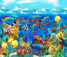 Фото бесплатно морское дно, art, рифы