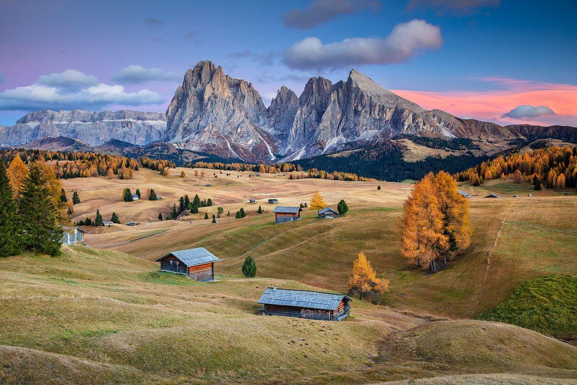 Фото бесплатно Сейзер Альм, Доломиты, Южный Тироль, Италия, Seiser Alm, Dolomites, South Tyrol, Italy, пейзажи