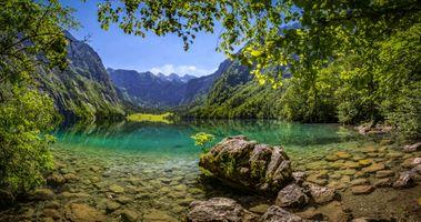 Бесплатные фото Бавария,Берхтесгаден,Берхтесгаденская земля,Альпы,Германия,озеро,горы