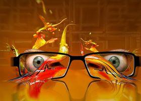Взгляд через очки · бесплатное фото
