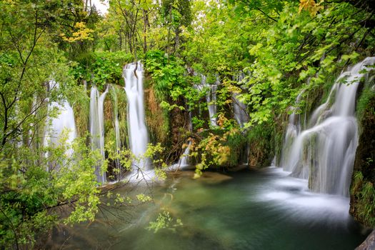 Photo free nature, waterfall, Plitvice Lakes National Park