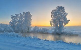 Фото бесплатно мороз, зима, закат
