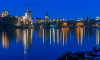 Фото бесплатно Czech Republic, Charles bridge, Vltava River