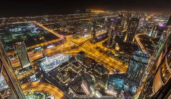 Фото бесплатно Объединенные Арабские Эмираты, иллюминация, Дубай