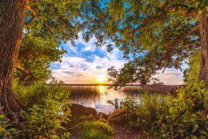 Фото бесплатно природа, озеро, берег