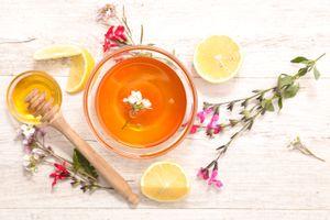 Бесплатные фото чай, лимон, мёд, напиток