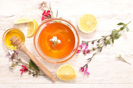 Бесплатные фото чай,лимон,мёд,напиток