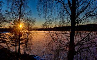 Бесплатные фото Река Ангерман,Крамфорс,Швеция,закат солнца,деревья,природа,пейзаж