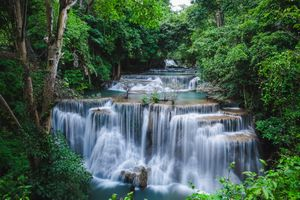 Фото бесплатно Канчанабури, Провинция Канчанабури, HuayMaeKhaminWaterfall