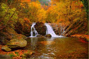 Фото бесплатно камни, осенние цвета, природа