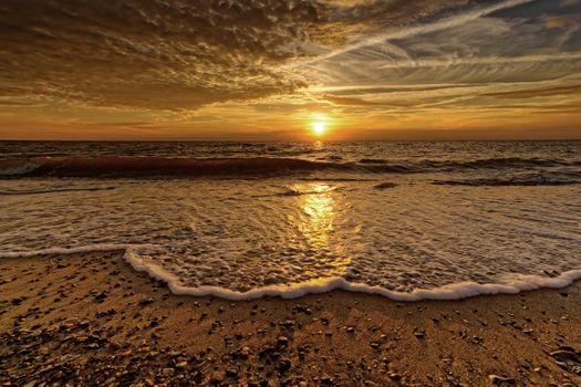 Фото бесплатно пейзаж, природа, вечернее небо, настроение, облака, небо, северное море, northsea, облако, кучевые облака, атмосфера, драматический