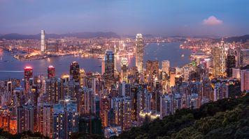 Бесплатные фото Гонконг,Китай,город