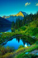 Фото бесплатно Lake Josephine, Glacier National Park, озеро