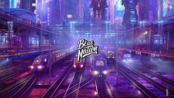 Бесплатные фото Нация ловушки,поезда,город,Синяя нация,простой фон