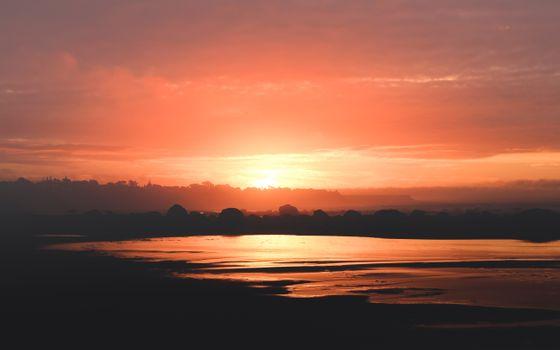 Фото бесплатно Облака, океан, природа
