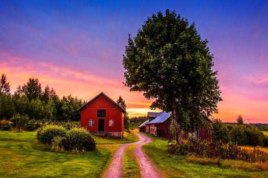 Фото бесплатно ферма, дом, пейзаж
