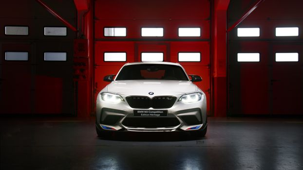 Photo free competition BMW M2 heritage edition, white, luxury