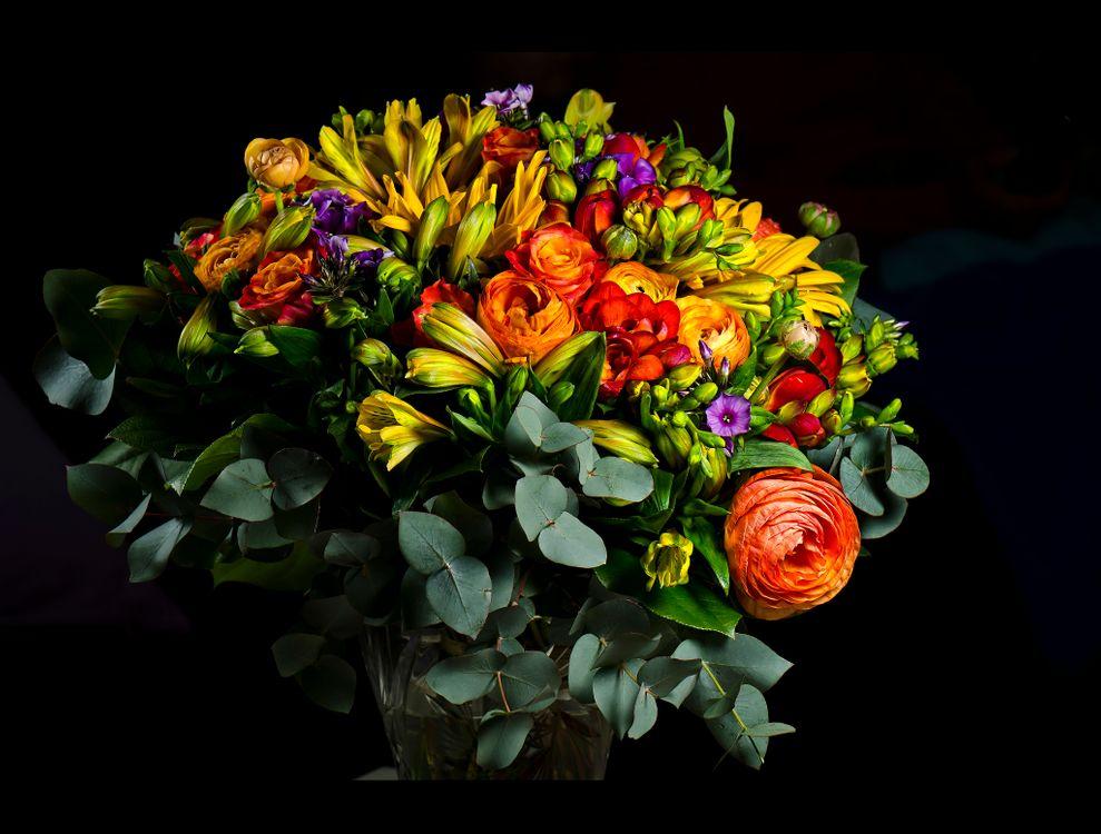 красивый букет цветов · бесплатная заставка