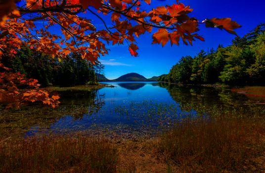 Photo free Eagle Lake, Acadia National Park, autumn