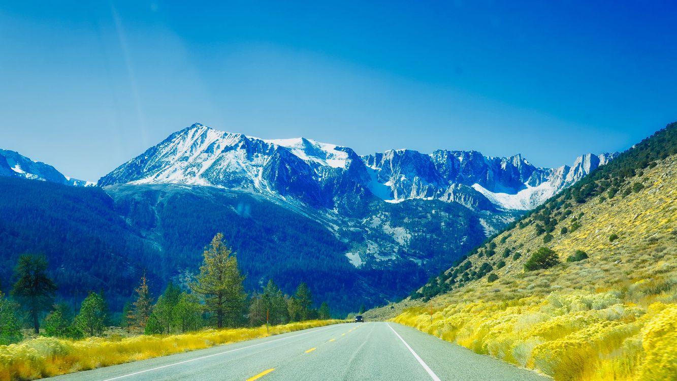 Фото бесплатно горы, дорога, путь - на рабочий стол